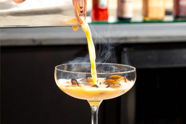Smoking Flip cocktail at Copper & Salt Northwest Kitchen