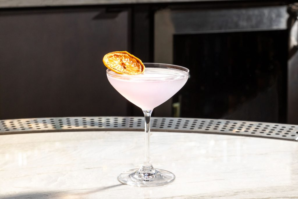 Lavender cocktail at Copper & Salt Northwest Kitchen
